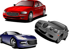 Three cars. Sedan Stock Image