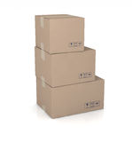 Three  cartons Royalty Free Stock Photo