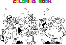Three cartoon  clown Stock Image