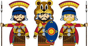 Three Cartoon Roman Soldiers royalty free illustration