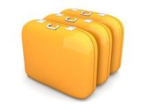 Three Cases Stock Photo