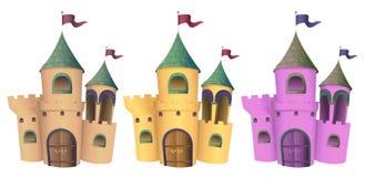 Three castles Stock Image