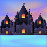 Three castles  at the night time Royalty Free Stock Photography