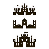 Three castles silhouettes Royalty Free Stock Images