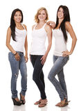 Three casual women Royalty Free Stock Images