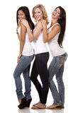 Three casual women Stock Images