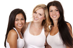 Three casual women Stock Photos