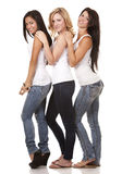 Three casual women Stock Image