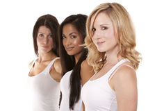Three casual women Stock Photography