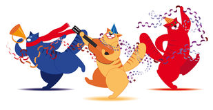 Three Cat musician Stock Images