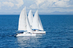 Three catamarans Stock Photo