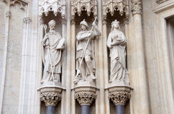 Three Catholic statutes, Zagreb Cathedral Stock Photos
