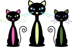 Three Cats Royalty Free Stock Image