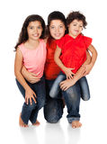 Three caucasian kids Stock Photo
