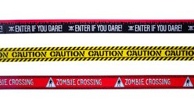 Caution Tapes royalty free stock photography
