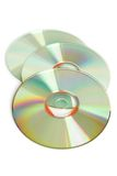 Three cd. On a white background Royalty Free Stock Photo