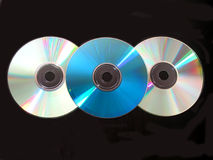 Three cd on black Stock Image