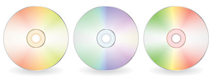 Three cd-disks Stock Images