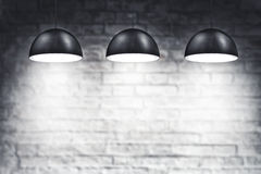Three Ceiling Lamps Stock Images