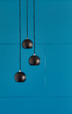 Three ceiling lights, loft-style interi Stock Images