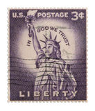 Three Cent Stamp Stock Photo