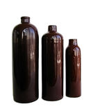 Three ceramic bottle Royalty Free Stock Image