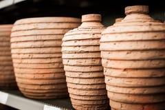 Three ceramic vases Stock Photo