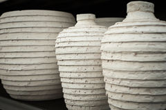 Three ceramic vases Royalty Free Stock Photography