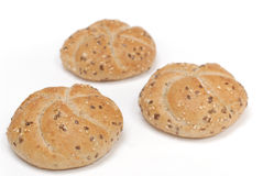 Three cereal rolls Royalty Free Stock Image
