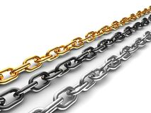 Three chains Royalty Free Stock Photography