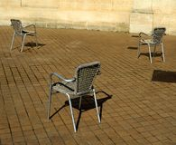 Three chairs Stock Images