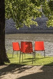 Three chairs Royalty Free Stock Photography