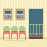 Three Chairs In Empty Room Stock Image