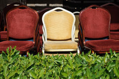 Three chairs in the grass Royalty Free Stock Photo