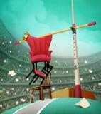 Three chairs. vector illustration