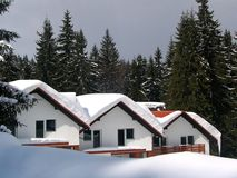 Three chalets - little noise Royalty Free Stock Image