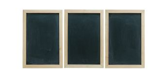 Three chalkboard with copyspace stock images