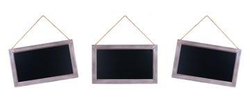 Three chalkboards Royalty Free Stock Image