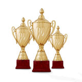 Three championship trophies Stock Photography