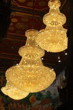 Three chandelier. At translucent roof Royalty Free Stock Photo