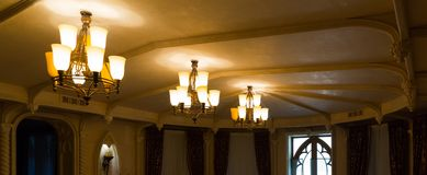 Three chandeliers Royalty Free Stock Image