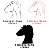 Three characters in the form of a horse Royalty Free Stock Image