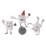 Three characters at a party Royalty Free Stock Photo