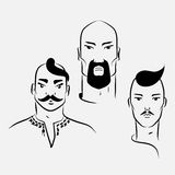 Three characters of Ukrainian Cossacks Stock Photo