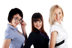 Three charming young girls Stock Photos