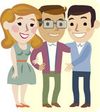 Three cheerful friends Royalty Free Stock Images