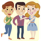 Three cheerful friends Royalty Free Stock Photos