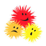Three cheerful monsters Royalty Free Stock Photos