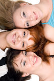 Three cheerful women Stock Images