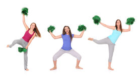 Three cheerleaders Royalty Free Stock Photo
